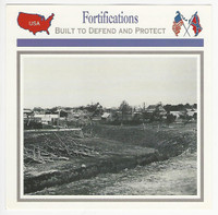 1995 Atlas, Civil War Cards, #49.16 Fortifications, City Point, Virginia