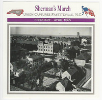 1995 Atlas, Civil War Cards, #54.10 Sherman's March, Charleston, SC
