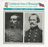 1995 Atlas, Civil War Cards, #54.17 Confederate Army Mississippi, Beauregard