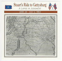 1995 Atlas, Civil War Cards, #55.07 Stuart's Ride at Gettysburg