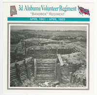 1995 Atlas, Civil War Cards, #55.18 3d Alabama Volunteer Regiment