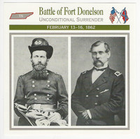 1995 Atlas, Civil War Cards, #56.05 Battle of Fort Donelson, Tennessee
