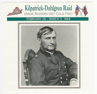 1995 Atlas, Civil War Cards, #56.07 Kilpatrick Dahlgren Raid