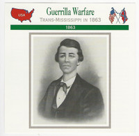 1995 Atlas, Civil War Cards, #56.10 Guerrilla Warfare, William Quantrill