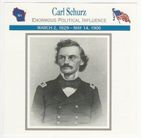 1995 Atlas, Civil War Cards, #56.13 Carl Schurz