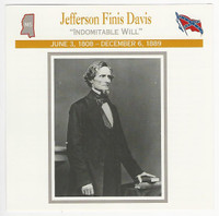 1995 Atlas, Civil War Cards, #57.02 Jefferson Finis Davis
