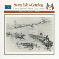 1995 Atlas, Civil War Cards, #57.05 Jeb Stuarts Ride to Gettysburg