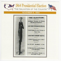 1995 Atlas, Civil War Cards, #58.03 1864 Presidential Campaign, Lincoln