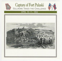1995 Atlas, Civil War Cards, #58.05 Capture of Fort Pulaski, Georgia