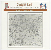 1995 Atlas, Civil War Cards, #58.06 Streight's Raid, Alabama, Map
