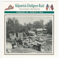 1995 Atlas, Civil War Cards, #59.07 Kilpatrick - Dahlgren Raid