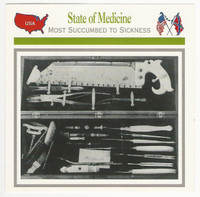 1995 Atlas, Civil War Cards, #59.16 State of Medicine