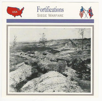 1995 Atlas, Civil War Cards, #59.17 Fortifications, Petersburg