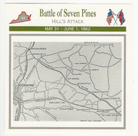 1995 Atlas, Civil War Cards, #60.04 Battle of Seven Pines, Map