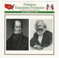 1995 Atlas, Civil War Cards, #60.17 Emancipation Proclamation, Palmerston, Marx