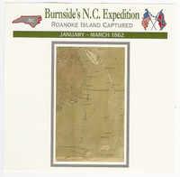 1995 Atlas, Civil War Cards, #61.04 Burnside's N.C. Expedition