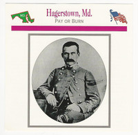 1995 Atlas, Civil War Cards, #61.17 Hagerstown, MD, General McCuasland