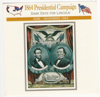1995 Atlas, Civil War Cards, #62.02A 1864 Presidential Campaign, Lincoln