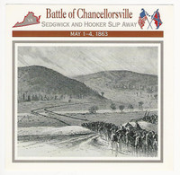 1995 Atlas, Civil War Cards, #62.07 Battle Chancellorsville