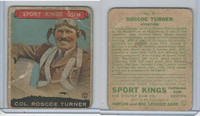 R338 Goudey, Sport Kings Gum, 1933, #27 Roscoe Turner, Aviation