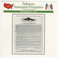 1995 Atlas, Civil War Cards, #62.20 Emancipation Proclamation