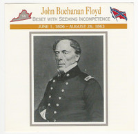 1995 Atlas, Civil War Cards, #63.02 John Buchanan Floyd