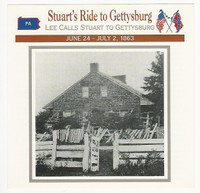 1995 Atlas, Civil War Cards, #63.07 Stuart's Ride to Gettysburg