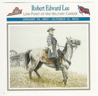 1995 Atlas, Civil War Cards, #65.14 Robert E. Lee, Genera;