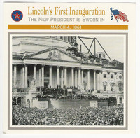 1995 Atlas, Civil War Cards, #66.02A Lincoln's First Inauguration