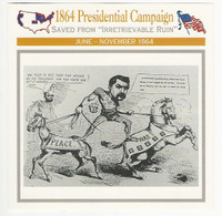 1995 Atlas, Civil War Cards, #66.04 1864 Presidential Campaign, McClellan