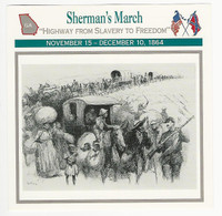 1995 Atlas, Civil War Cards, #66.10 Sherman's March, Georgia