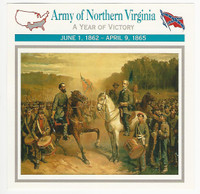 1995 Atlas, Civil War Cards, #66.18 Army of Northern Virginia, Lee, Jackson
