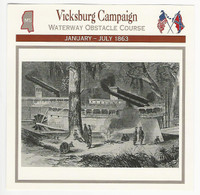 1995 Atlas, Civil War Cards, #67.08 Vicksburg Campaign, Union Ships