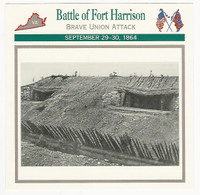 1995 Atlas, Civil War Cards, #67.09 Battle of Fort Harrison
