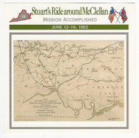 1995 Atlas, Civil War Cards, #68.03 Stuart's Ride Around McClellan