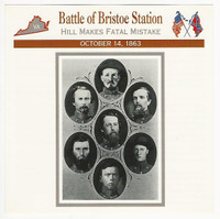 1995 Atlas, Civil War Cards, #68.05 Battle of Bristoe Station