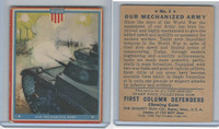 R50 Goudey, First Column Defenders, 1940, #4 Our Mechanized Army
