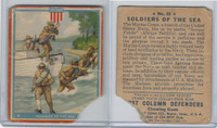 R50 Goudey, First Column Defenders, 1940, #16 Soldiers Of The Sea, Marine