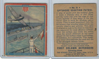 R50 Goudey, First Column Defenders, 1940, #21 Offshore Scouting Patrol