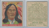 R73 Goudey, Indian Gum, Series 192, 1933, #46 Spotted Tail