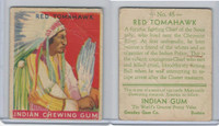 R73 Goudey, Indian Gum, Series 192, 1933, #48 Red Tomahawk