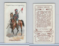 P72-48 Players, Riders of the World, 1905, #11 Bengal Lancers, India, Horse