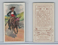 P72-48 Players, Riders of the World, 1905, #13 Spanish Muleteer, Horse