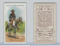 P72-48 Players, Riders of the World, 1905, #14 Boer Farmer, Horse