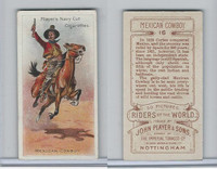 P72-48 Players, Riders of the World, 1905, #16 Mexican Cowboy, Horse
