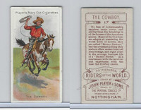 P72-48 Players, Riders of the World, 1905, #17 Cowboy, Horse