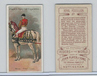 P72-48 Players, Riders of the World, 1905, #27 Royal Postillion, Horse