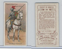 P72-48 Players, Riders of the World, 1905, #28 Knight in Armour, Horse