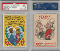 1960 Topps, Funny Valentines, #20A We'd Make A Lovely Couple, PSA 9 Mint