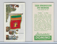 D0-0 Domino, Products of the World, Flags, 1961, #3 Ceylon